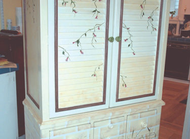 Hand Painting of Armoire