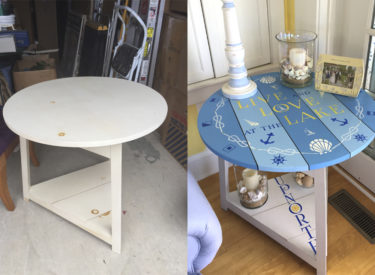 Hand Painted Cottage Table – Before and After