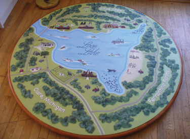 Hand Painted Family Game Table