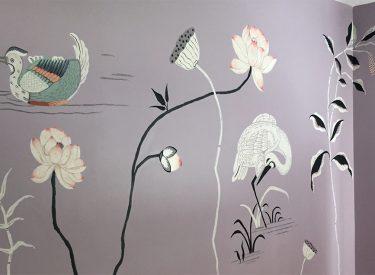 Nursery mural detail