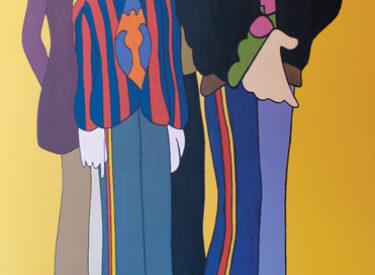 Beatles' Sargeant Pepper's mural in master bath