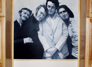 Beatles trompe l'oeil mural in foyer
