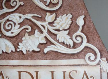 Trompe l'oeil detail hand-painted custom hood
