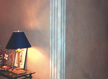 Trompe l'oeil with specialty faux finished walls