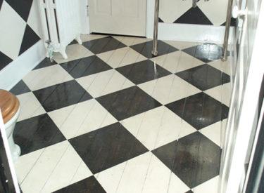Custom painted floor
