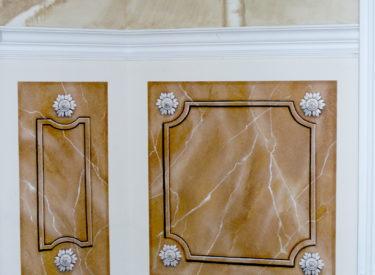 Trompe l'oeil marbled panels