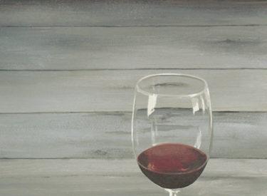 Wine cellar mural trompe l'oeil detail