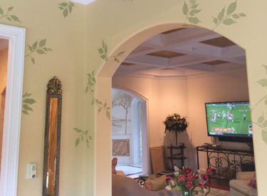 Custom stenciling in sunroom (other images in Ceilings)