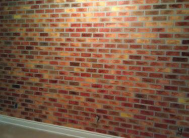 Textured faux bricks