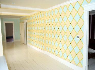 Bold geometric hall