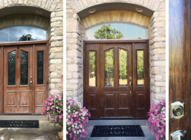 Faux Woodgraining of Exterior Entry Door