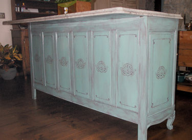 Faux Finishing and Stenciling of Kitchen Island