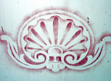 Custom Stencil Design for Kitchen Island