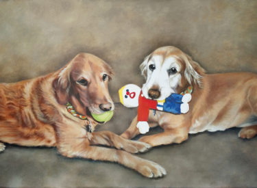 Lexie & Cyder – 18″ x 40″ Oil